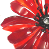 Fused glass poppies for home or garden installation