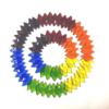 Fused Glass Rainbow Wreaths