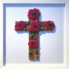 Fused Glass Remembrance Poppy Cross - Wall Art