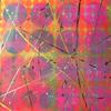 Hidden Circles - Vivid - Painted canvas with hidden circles