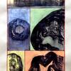'Five Glimpses' - blockprint and paint on paper