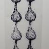'Water Dropping' - blockprint on tracing paper