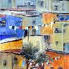 Hillside Town, Equador 2, Acrylic on canvas