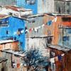 Hillside Town, Equador 3, Acrylic on canvas