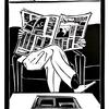Homage To The Broadsheet, Linocut Print (13x17cm)