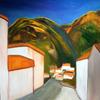 Mountain Village - Gran Canaria. Acrylics on Canvas - 90 x 90cm