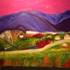 Sunset at Puerto de Mogan - Oil on Canvas - 90 x 90cm