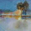 'Winters Glow' 30cm x 30cm Sold