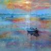 'St Ives Setting Sun' 30cm x 30cm Sold