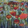 poppies in acrylics