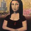Revolution (Rebel Mona Lisa), Acrylic on Canvas Board, 30.5 x 25.4 cm
