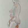 Nude Woman watercolour on paper