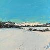 Snowy Hills of Ivinghoe Beacon // Acrylic on Canvas Board (20 x 20 cm)