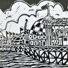 Brighton Pier Linocut Print on Paper