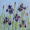 Irises // Acrylic on Stretched Canvas (20 x 20 cm)