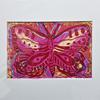 Butterfly Linocut and Screen Print on Paper with White Mount