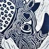 Fantastic Rhino Linocut Print on Paper