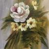 Rost Posy :   Acrylic :  Price £50  :  30x35cm  Framed