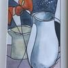 Two Jugs    Watercolour   :  Price £40   :  31x38cm  Framed