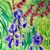 Lockdown garden - watercolour & mixed media, 594x420mm
