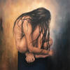 Isolated. Figurative. Woman. Oil on Canvas