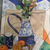 Blue Jug and Oranges  Watercolour  Price:£100  Size 55x75cm Framed