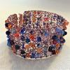 Orange and blue bracelet