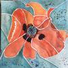 Poppy   Watercolour   Price £75   Size  40x40cm Framed