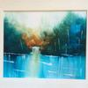 Quiet Waters    Acrylic    Price:  £45   37x32cm  Framed