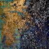 Golden Lining - Original Texture Art Abstract Acrylic Painting
