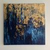 Blue strato  - Original Texture Art Abstract Acrylic Painting