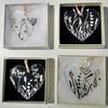 Screen printed love hearts