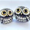 Pair of Owls - Pebble Painting