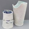 Under Collar and Yoke Front: Porcelain, underglazes and glazes