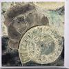Fossil. Collograph print. Square Blank Greeting card. £3.00