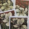 White Tulips (detail)  4 Square Blank Greeting cards. £2.00 each