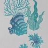 """""""Mers de corail"""" - Linocut"""
