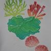 """""""Mers de corail"""" - Linocut/Emboss - 1 of 2"""
