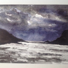 Storms brewing over Dartmouth. Watercolour.