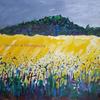 Fields of Rapeseed, Bushmead, Luton. Acrylic.