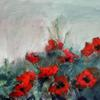Poppies -mixed media on canvas
