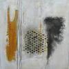 """""""Deitritus"""" mixed media 35 x 35 cms.  On canvas framed £200"""