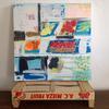 Little Greek Fruit & Herb Market - mixed on canvas