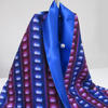 Lights Silk Scarf, one of only 3 in this design, lined with royal blue silk, £75