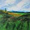 Woodcock Hill St Albans acrylic landscape painting on canvas. Size 20 x 20 x 1 cm. £150