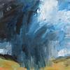Woodcock Hill Storm. Landscape acrylic painting on canvas. Size 40 x 40 x 1 cm. £180