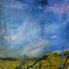 Big Sky. Mixed media painting on paper. Size 26 x 25.5 cm. £150