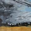 Walk over the fields stormy cloudy sky fields landscape St Albans. £150
