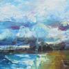 Southend Beach. Acrylic painting on canvas. Size 50 x 20 x 3 cm. £250