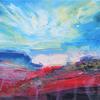 Blue Sky. Acrylic painting on canvas. Size 50 x 20 x 3 cm. £250